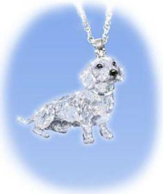 dachshund crystal pendant