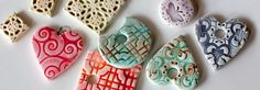 A simple tutorial for making polymer clay beads that look like kiln-fired ceramics.
