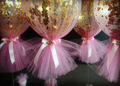 A little something we did for @stylishlittleparties with a signature tulle and confetti balloons with fancy mirror gold acrylic crown for a princess theme christening and first birthday