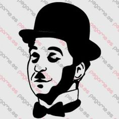 Pegame.es Online Decals Shop  #face #celebrity #cinema #realistic #chaplin #vinyl #sticker #pegatina #vinilo #stencil #decal