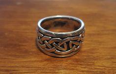 Silver Celtic Ring #WorldSterlings #Band
