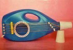 A very clean guitar. Instrument Craft, Homemade Musical Instruments, Making Musical Instruments, Projects For Kids, Diy For Kids, Crafts For Kids, Children Crafts, Music Crafts, Plastic Bottle Crafts