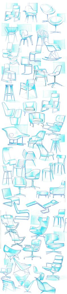 Produktdesign-Skizzenbuch - Hints for Women Interior Design Sketches, Sketch Design, Design Art, Portfolio Design, Sketch Inspiration, Design Inspiration, Chair Design, Furniture Design, Trendy Furniture