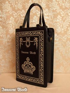 Innocent World Antique Book Bag (Black, Bordeaux, Chocolat) Gold Embroidery, Antique Books, Lolita Fashion, Fashion Bags, Bordeaux, Purses And Bags, Cute Outfits, Style Inspiration, Tote Bag