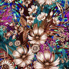 Floral monocolor! Uma das salpicadas de hoje! #foco #arte #estampa #salpiquearte…