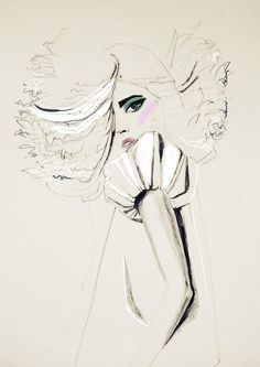 Fashion illustration - by ARTbyLola  #fashion #illustration #beauty #sketch