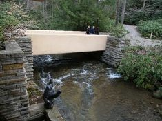Fallingwater, Mill Run Picture: Fallingwater - Check out TripAdvisor members& candid photos and videos of Fallingwater Falling Water House, Frank Lloyd Wright Buildings, Bridge Construction, Historic Homes, Garden Bridge, Trip Advisor, Beautiful Homes, Waterfall, Exterior