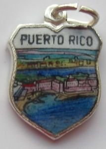 Puerto Rico Coast Vintage Enamel Travel Shield Charm | eBay