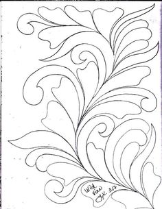 Here's a peek inside my Sketch Book of Quilting Designs. I have been in the mood to draw Wild Vines . Hand Quilting Patterns, Easy Quilt Patterns, Free Motion Quilting, Quilting Designs, Longarm Quilting, Leaves Sketch, Leather Tooling Patterns, Floral Vintage, Whole Cloth Quilts