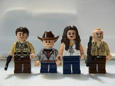 The Walking Dead. Rick, Carl, Lori and Shane