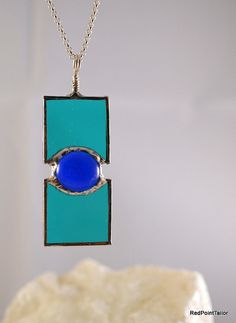 Art Deco inspired Jewellery Stained Glass by RedPointTailor, €30.00