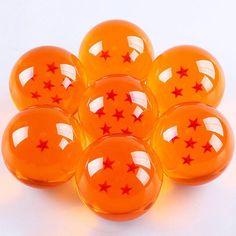 Dragon Ball Z Stars Anime 7 Piece Crystal Ball Set