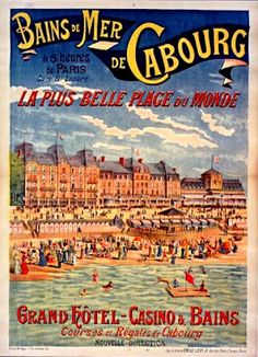 Cabourg Beach France 1892 More on: http://publicites-anciennes.blogspot.fr
