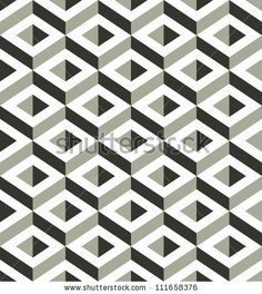 3d shapes seamless pattern, vector background.