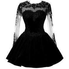 Long Sleeve Black Satin Short Homecoming Dress with Appliques - Abschlussball Kleider Homecoming Dresses Sleeves, Hoco Dresses, Dresses For Teens, Trendy Dresses, Cute Dresses, Dress Outfits, Dresses With Sleeves, Dress Prom, Lace Sleeves