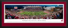 Washington State Cougars Football Panoramic Picture - Martin Stadium - Deluxe Frame $199.95