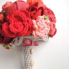 Crocheted flower blossoms! Spectacular.