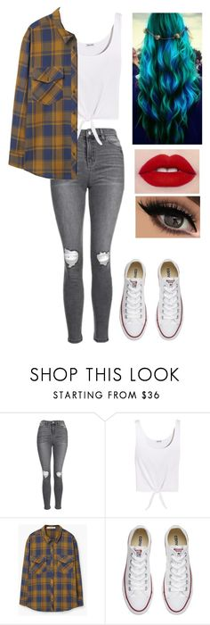 """""""Avakin life"""" by miaagustus ❤ liked on Polyvore featuring Topshop, Splendid, MANGO and Converse"""