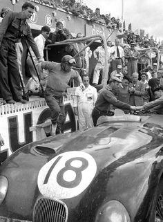 No.18, 'C' Type Jaguar of Tony Rolt & Duncan Hamilton, winners at Le Mans 24 hours 1953.