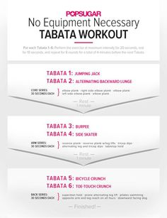 Printable Full Body Tabata Workout
