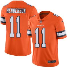 Youth Nike Denver Broncos #11 Carlos Henderson Limited Orange Rush NFL Jersey