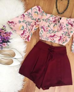 Um belo look para um passeio com o mozão White Shorts, Short Dresses, Short Frocks, Short Gowns, White Trousers, Skater Skirts