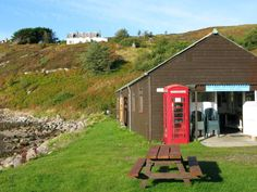 Summer Isles (Tanera Mor) Post Office where I stayed for a knitting retreat.  Lovely spot.
