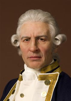 / British explorer Captain James Cook reached the Hawaiin islands Forensic Facial Reconstruction, Famous People In History, James Cook, Wax Museum, Madame Tussauds, People Of Interest, European History, Baker Street, Electronic Music