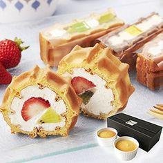 Amazon.co.jp: お試し 神戸ワッフルセット ( お試しセット ロールケーキ フルーツ チーズケーキ ): 食品・飲料・お酒 通販