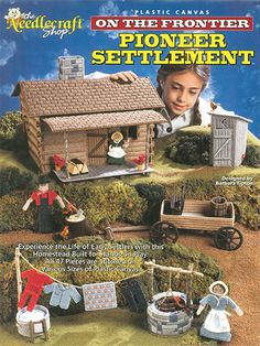 Your child will enjoy hours of playtime with this wonderful pioneer settlement!   Now your child can experience the life of the early settlers with this lifelike homestead. Built for hands-on play, all 47 pieces are stitched on various sizes of plastic canvas. This was previously published by Annie's, some of the materials may not be available.