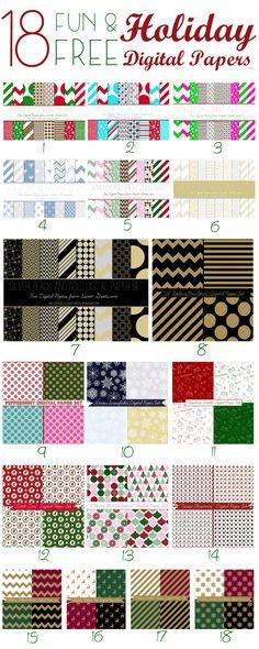 FREE Freebie Christmas Papers by Wilma SCRAPBOOK IDEAS Pinterest