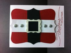 Santa's suit- use one of this shaped picture frames @ Hobby Lobby and make it into a wall hanging