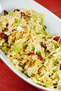 """Oriental Cabbage and Cranberry Salad Recipe – 2 Points + to make it """"Paleo"""" use a soy free sauce.  Also mix or replace cabbage with brussels sprouts!"""