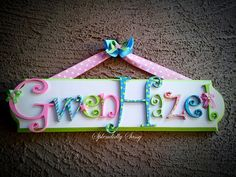 LARGE Children's Custom Name Plaque by SplendidlySassy on Etsy,