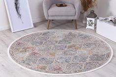 Istanbul Vintage Lantern Multi Round Rug  Pile Height: 5mm Material: 65% Polypropylene,35% Polyester Rug Type: Indoor Easy to clean Style(s): Modern & Contemporary Pattern(s):Vintage, Modern