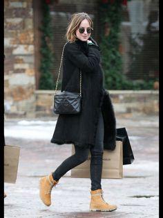 Dakota out shopping in Aspen CO 12/21/15