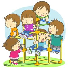 They like to play on the jungle gym. Color Flashcards, Action Cards, School Clipart, Jungle Gym, Clip Art, Cartoon Kids, Cute Illustration, Pre School, Cartoon Drawings
