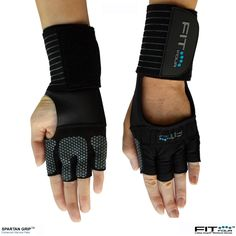 The Spartan Grip Silicone work out glove features an anti-slip silicone palm for enhanced grip and mobility.