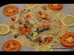 ▶ Jamaican mackerel Run Down how to cook great food recipe coconut fish scotch bonett - YouTube