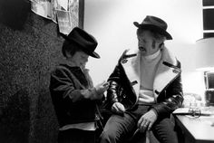 Robert Redford and his son Jamie wear matching outfits in New York City, 1969.  See more: http://ti.me/1ymx4o5   (John Dominis—The LIFE Picture Collection/Getty Images)