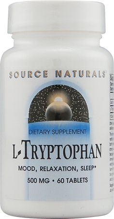 Source Naturals L-Tryptophan -- 500 mg - 60 Tablets Insomnia Help, Insomnia Causes, Natural Remedies For Insomnia, Natural Cures, Banana Cinnamon Tea, Natural Sleeping Pills, Learn Yoga, Health