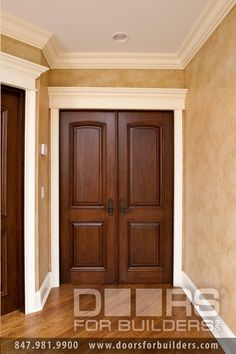 Custom Wood Interior Doors Double Two Panel Prefinished Door