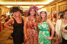 """Hats! Barbi Brunton, left, Rita Case and Mary Ensor at Starlight Children's Foundation's seventh annual """"Hats & Handbags"""" event, which took place at the Diplomat Golf Resort & Spa located in Hallandale Beach."""
