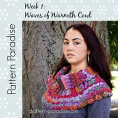 #12WeeksChristmasCAL Free Crochet Pattern Waves of Warmth Cowl by…                                                                                                                                                                                 More