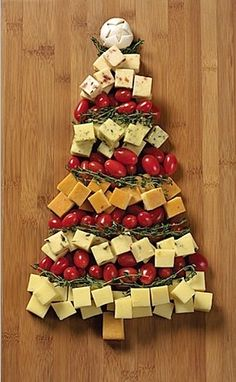 Christmas tree cheese platter