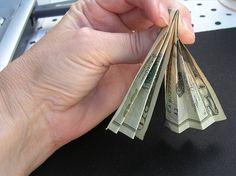 Folded Money Tree Instructions