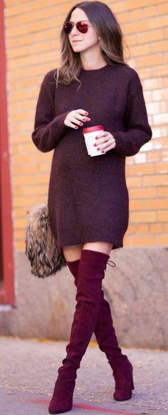 Merlot Mood Fall Street Style Inspo #Fashionistas