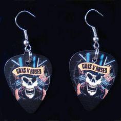 Guns and Roses Guitar Pick Earrings  Guitar Pick by 322Music