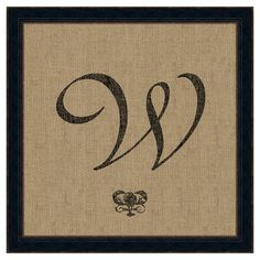 Showcasing a scrolling monogram against a burlap-inspired background, this calligraphic art print is an artful addition to your walls. Made in the USA.
