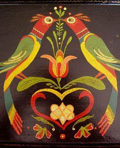 Ideas for simple bird illustration folk art German Folk, Scandinavian Folk Art, Pennsylvania Dutch, Folk Embroidery, Primitive Folk Art, Bird Illustration, Tole Painting, Art Furniture, Simple Art